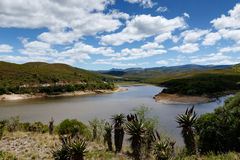 Loerie Dam Nature Reserve with clouds and skies Stock Photography