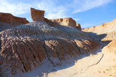 Loess erosielandform Royalty-vrije Stock Afbeelding