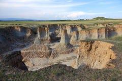 Loess erosion landform Royalty Free Stock Images