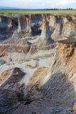 Loess erosion landform Stock Images