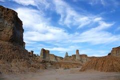 Loess erosion landform Royalty Free Stock Photography