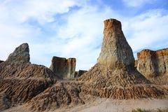 Loess erosion landform Royalty Free Stock Photo