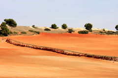 Loess landscape near Albacete in Spain Stock Photography