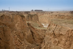Loess plateau winter Royalty Free Stock Photo