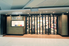 Loewe shop in Hong Kong International airport Stock Photos
