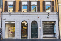 Loewe shop in Rome, Italy stock photos