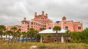 Loews Don CeSar Hotel som lokaliseras i St Pete Beach, Florida Arkivbild