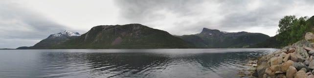 Loffoten cloudy landscape Royalty Free Stock Photography