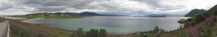 Loffoten cloudy landscape Royalty Free Stock Image