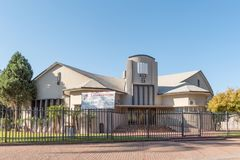 Lofoord Church of the Apostolic Faith Mission in Upington. UPINGTON, SOUTH AFRICA - JULY 6, 2017: The Lofoord Church of the Apostolic Faith Mission in Upington stock image