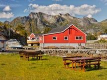 lofoten挪威 库存图片