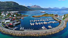 Lofoten海岛是一个群岛在诺尔兰,挪威县  免版税图库摄影