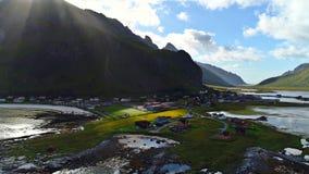 Lofoten海岛是一个群岛在诺尔兰,挪威县  库存照片