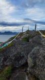Lofoten海岛看法  库存图片