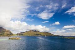 Lofoten海岛美丽的景色在挪威 库存图片