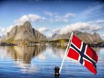 Lofoten海岛,挪威风景 免版税库存照片