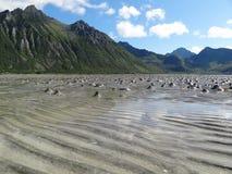 Lofoten海岛,挪威 挪威海 免版税库存照片