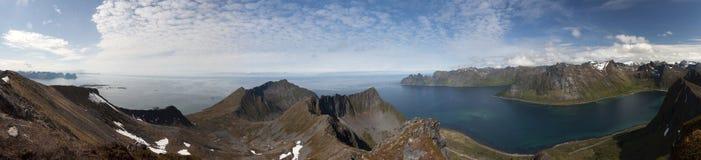 Lofoten海岛,挪威 图库摄影