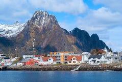 Lofoten的镇Svolvaer 免版税库存图片