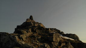 Lofoten石标 库存照片