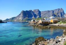 Lofoten ö i Norge Arkivbilder