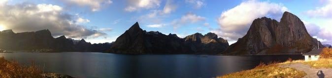 Lofoten öar, Norge arkivbild