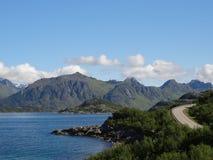 Lofoten öar, Norge Det norska havet Fotografering för Bildbyråer
