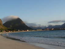 Lofoten öar, Norge Det norska havet Royaltyfria Foton