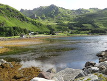 Lofoten öar, Norge Det norska havet Arkivbild