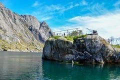 Lofoten öar - Norge ett bedöva landskap fotografering för bildbyråer