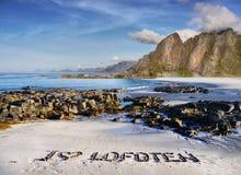 Lofoten, μοτίβο ταξιδιού Στοκ Φωτογραφία