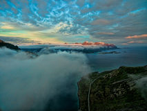 On Lofoten above clouds Royalty Free Stock Images