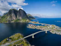 Lofoten aerial view royalty free stock photo
