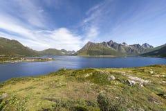 Lofoten archipelago, Austvagoya island,  Norway Royalty Free Stock Photography