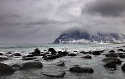 Lofoten Beach After Storm, Norway Royalty Free Stock Photography