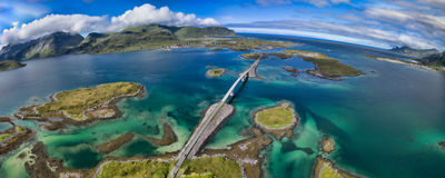 Lofoten bridges Royalty Free Stock Photos