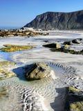 Lofoten célèbre, paysage de la Norvège, Nordland Photographie stock