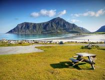 Lofoten célèbre, paysage de la Norvège, Nordland Photos libres de droits
