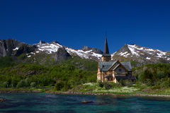 Lofoten cathedral Stock Photos