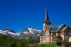 Lofoten cathedral Stock Images