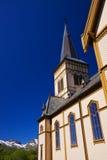 Lofoten cathedral close up Royalty Free Stock Image