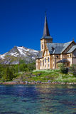 Lofoten cathedral in Norway Royalty Free Stock Photography