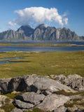 Lofoten coastal landscape Stock Image