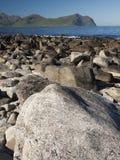 Lofoten coastal landscape Stock Photo