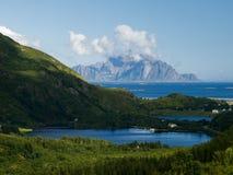 Lofoten coastal landscape Stock Images