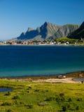 Lofoten coastal landscape Royalty Free Stock Photography