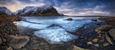 Lofoten congelado Imagem de Stock Royalty Free