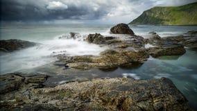 Lofoten-costa, Noruega imagem de stock