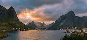 Lofoten Evening Atmosphere Stock Photos