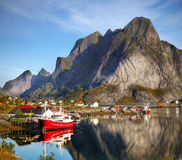 Lofoten famoso, paisagem de Noruega, Nordland Fotos de Stock Royalty Free